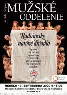 Radošinské naivné divadlo s Mužským oddelením zavíta aj do Kežmarku 1